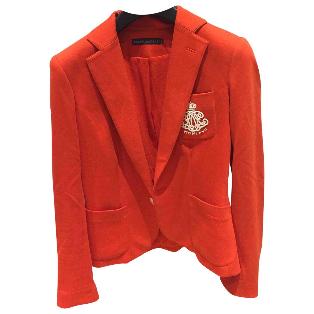 Ralph Lauren \N Jacke in  Orange Baumwolle
