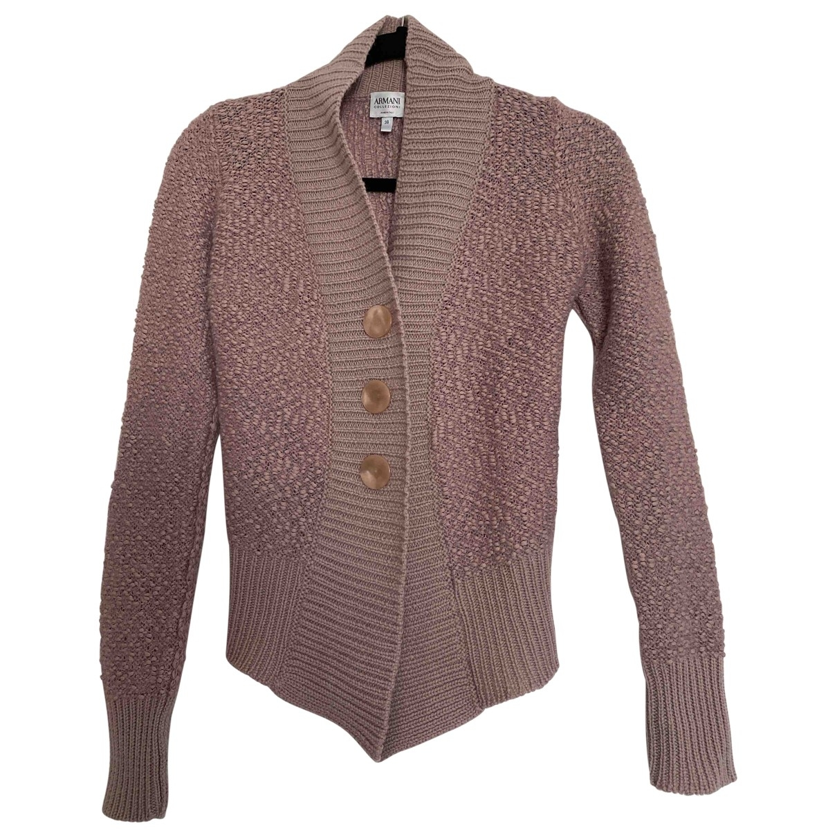Armani Collezioni \N Pink Wool Knitwear for Women 38 IT