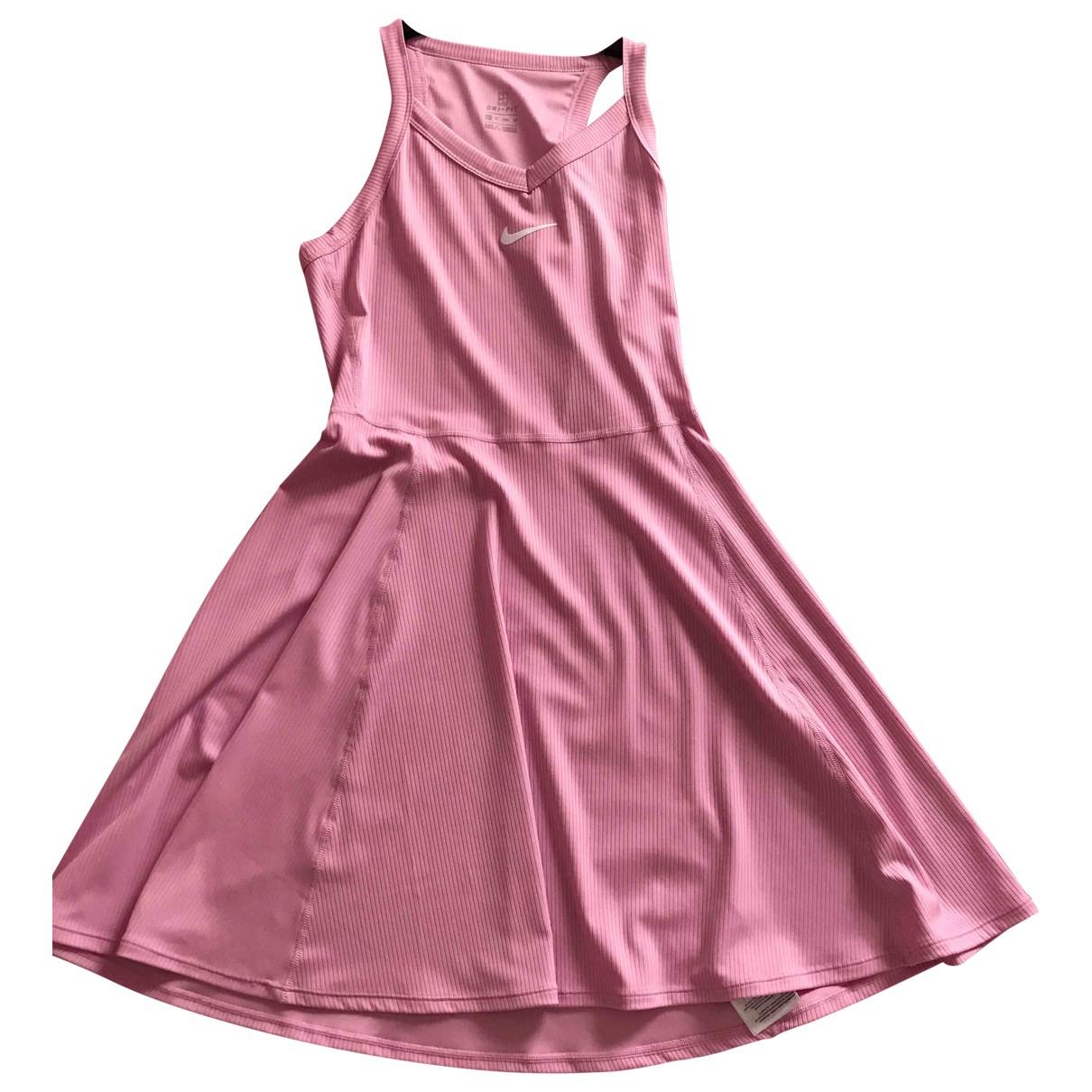 Nike \N Kleid in  Rosa Baumwolle