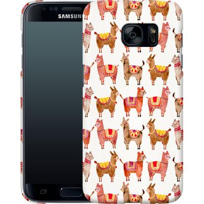 Samsung Galaxy S7 Smartphone Huelle - Alpacas von Cat Coquillette