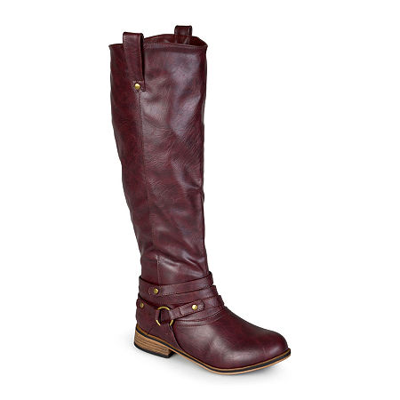 Journee Collection Womens Walla Riding Boots, 6 Medium, Red