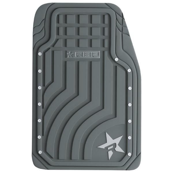 RBP Heavy Duty Rubber Floor Mats 2 Piece Kit