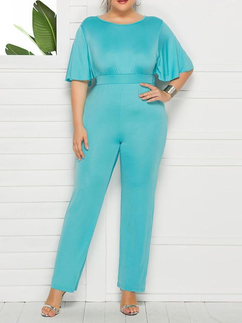 Ericdress Plain Full Length Western Slim Jumpsuit