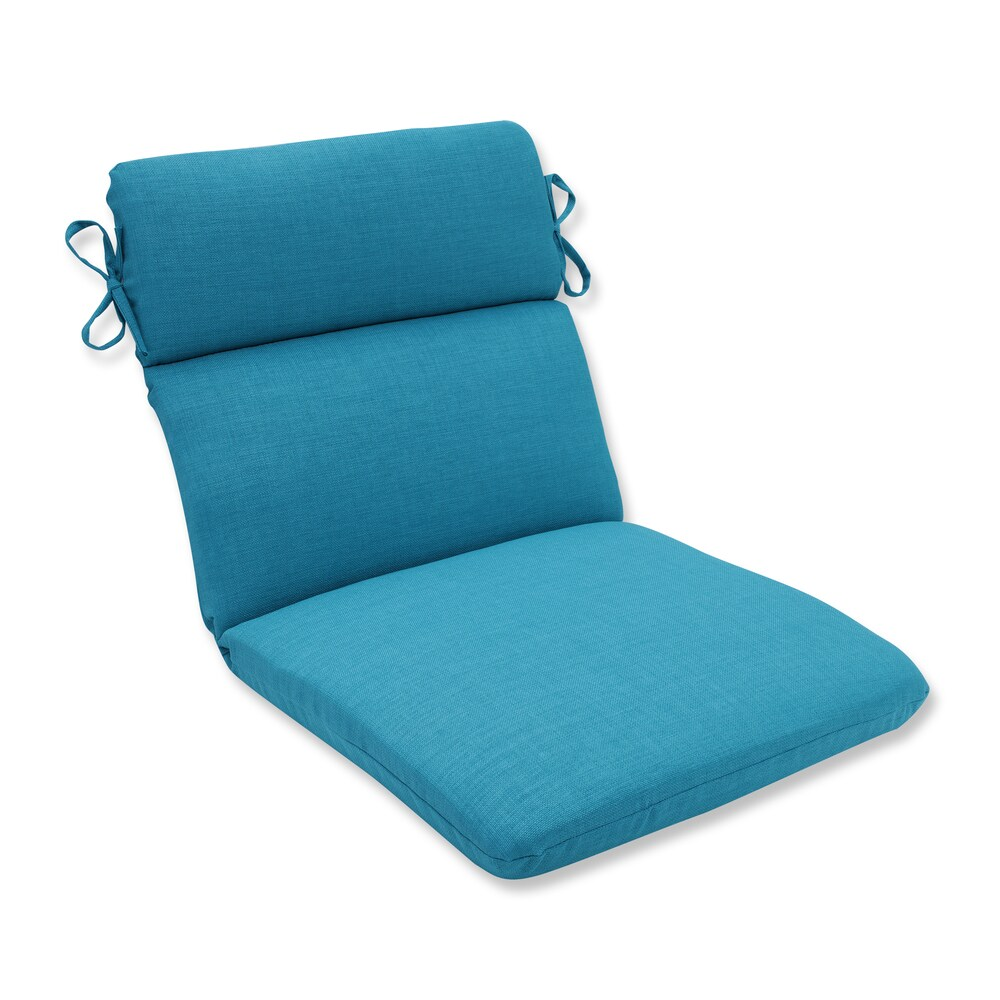 Pillow Perfect Outdoor/ Indoor Rave Peacock Rounded Corners Chair Cushion (Blue)