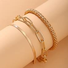 3 Stuecke Armband mit goldener Kette