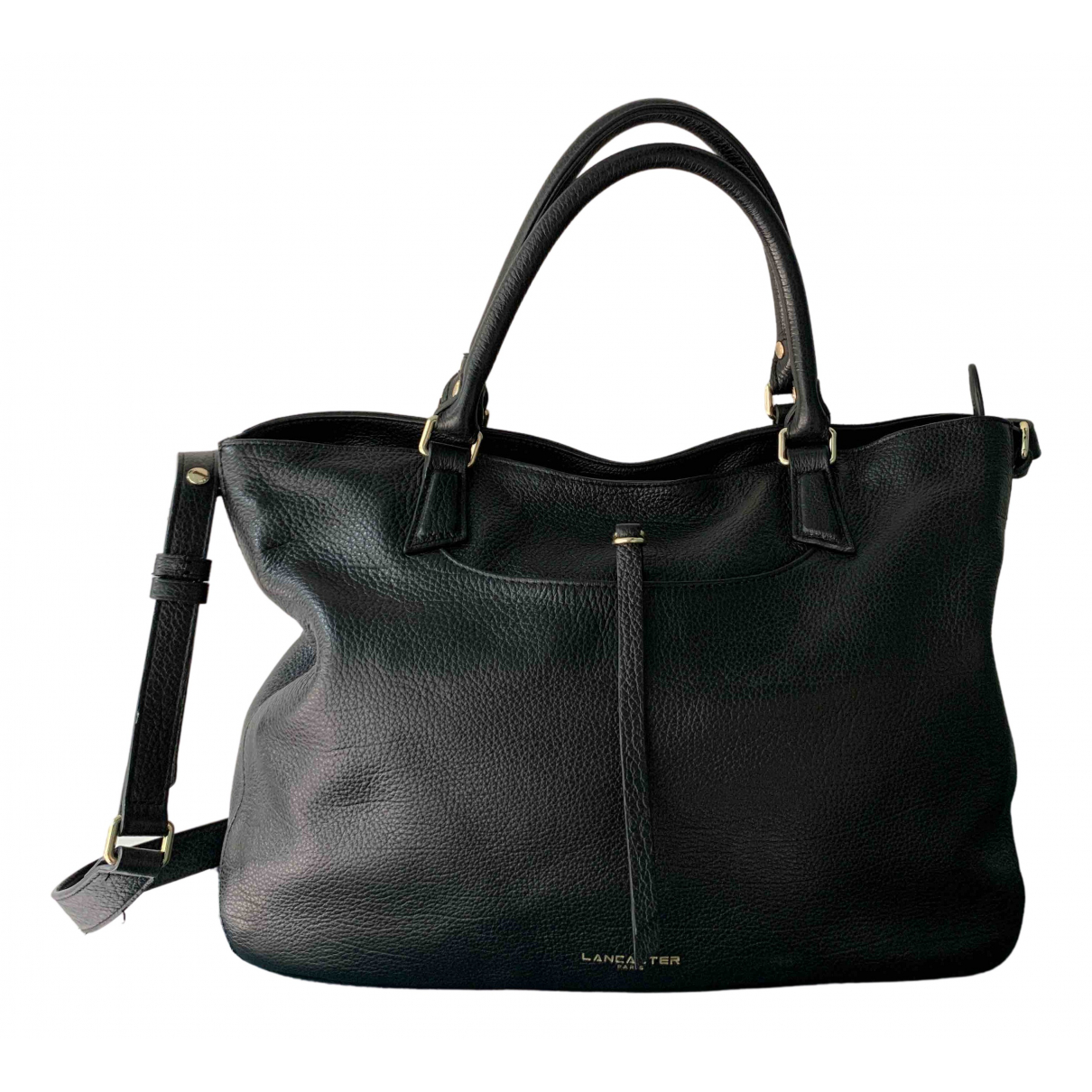 Lancaster N Black Leather handbag for Women N
