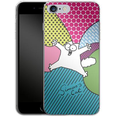 Apple iPhone 6 Plus Silikon Handyhuelle - Simon´s Cat Colourful Pattern von Simons Cat