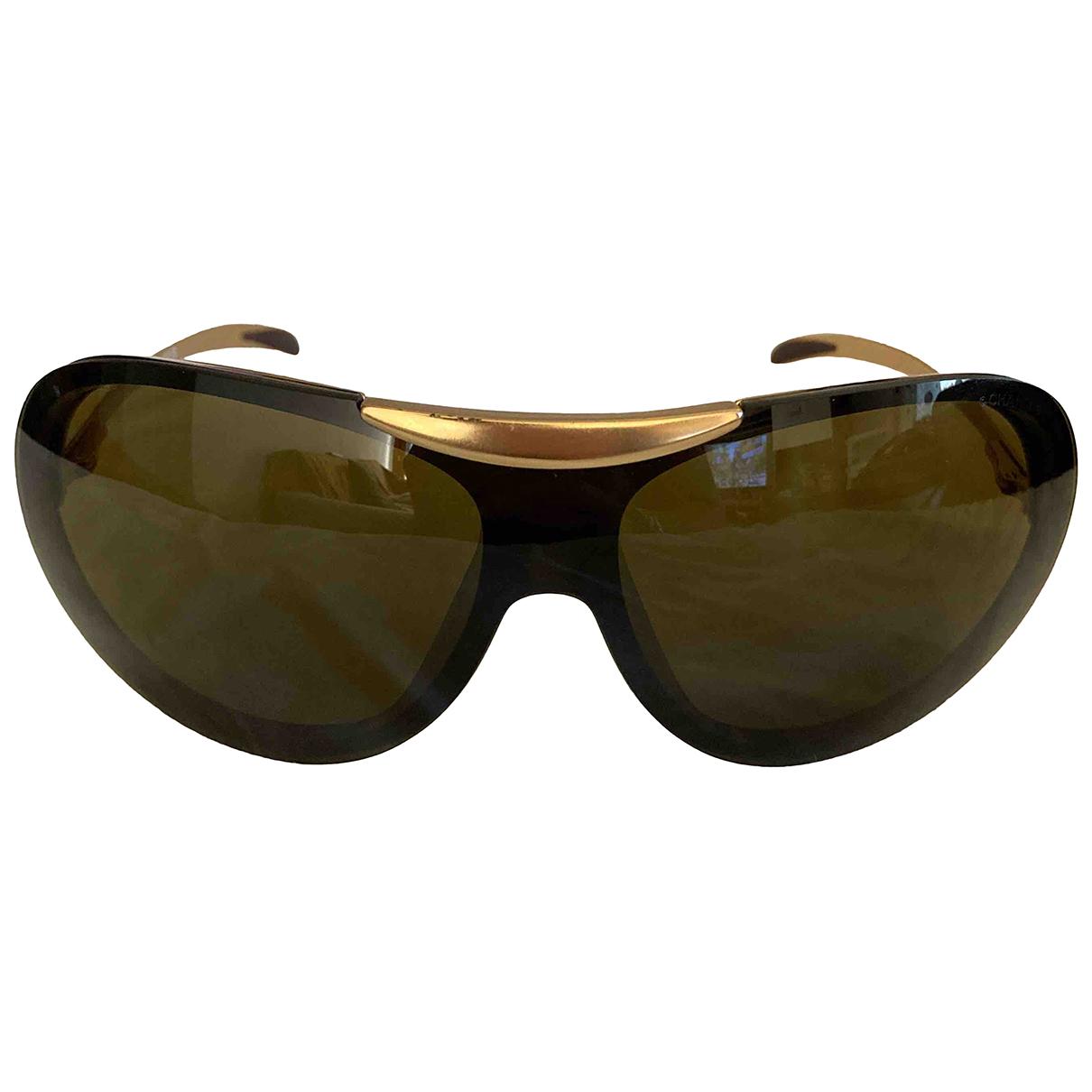 Chanel \N Brown Metal Sunglasses for Women \N
