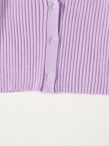 Button Up Crop Cardigan