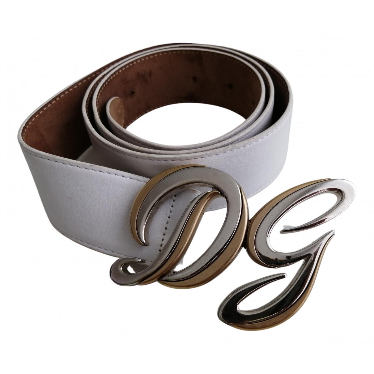 Dolce & Gabbana \N White Leather belt for Women M International