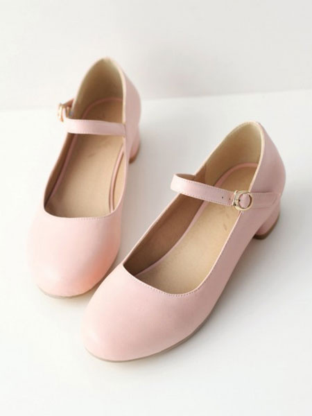 Milanoo Sweet Lolita Shoes Puppy Heel Lolita Mary Jane Shoes