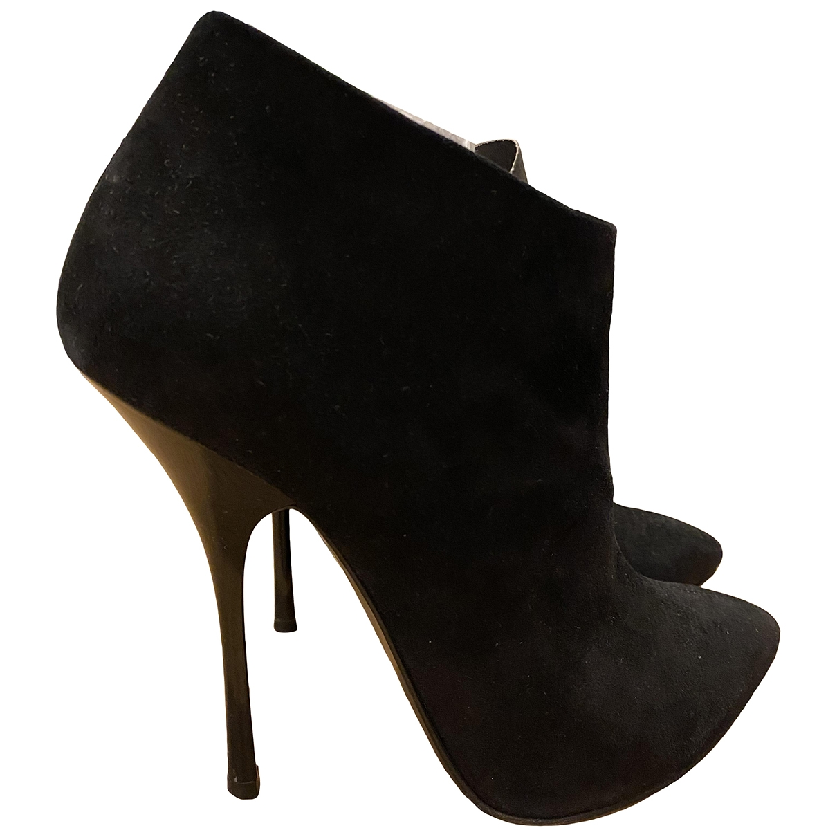 Giuseppe Zanotti \N Black Suede Ankle boots for Women 38.5 EU