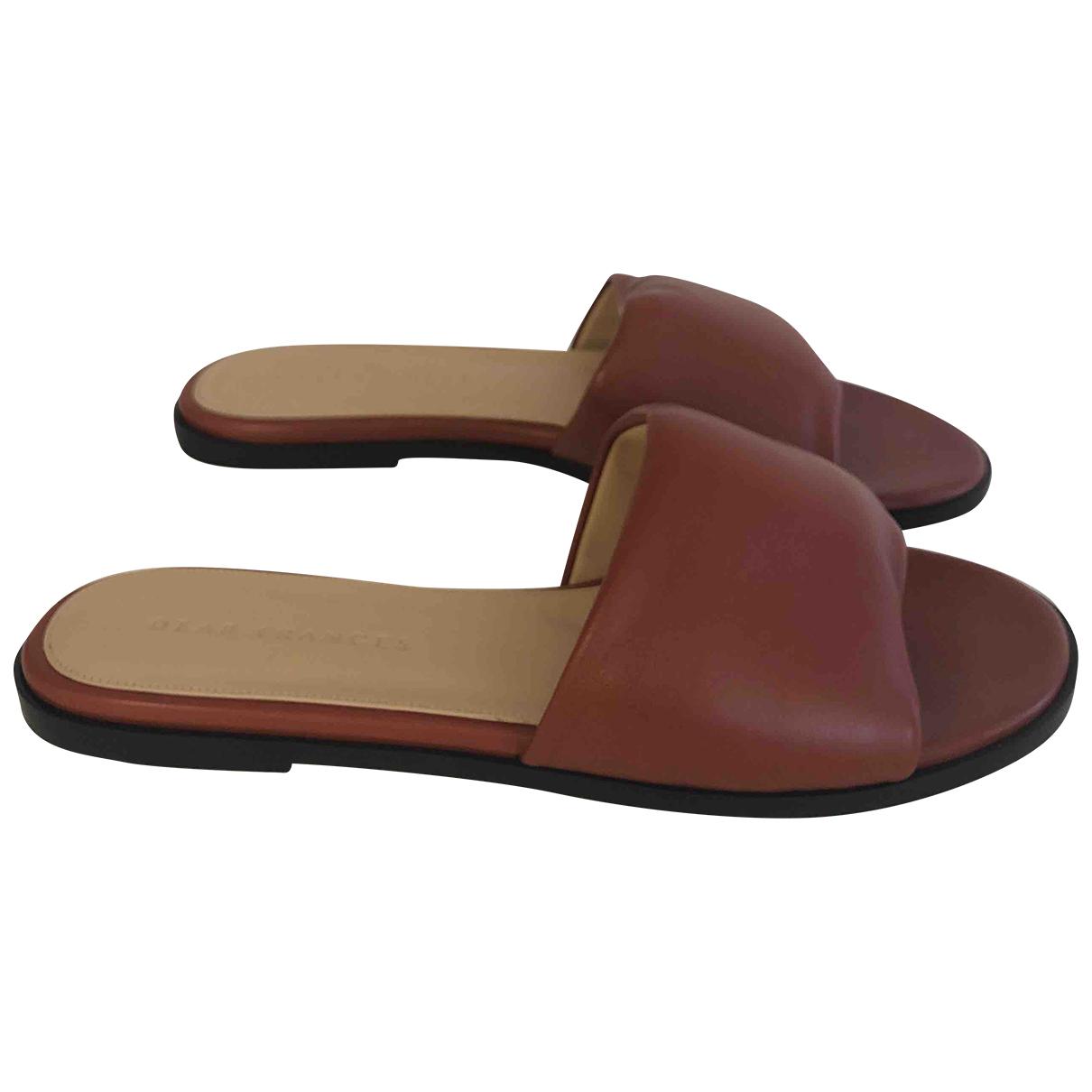 Dear Frances \N Brown Leather Sandals for Women 37 IT