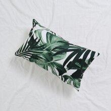 Tropical Plant Print Lumbar Pillowcase Without Filler