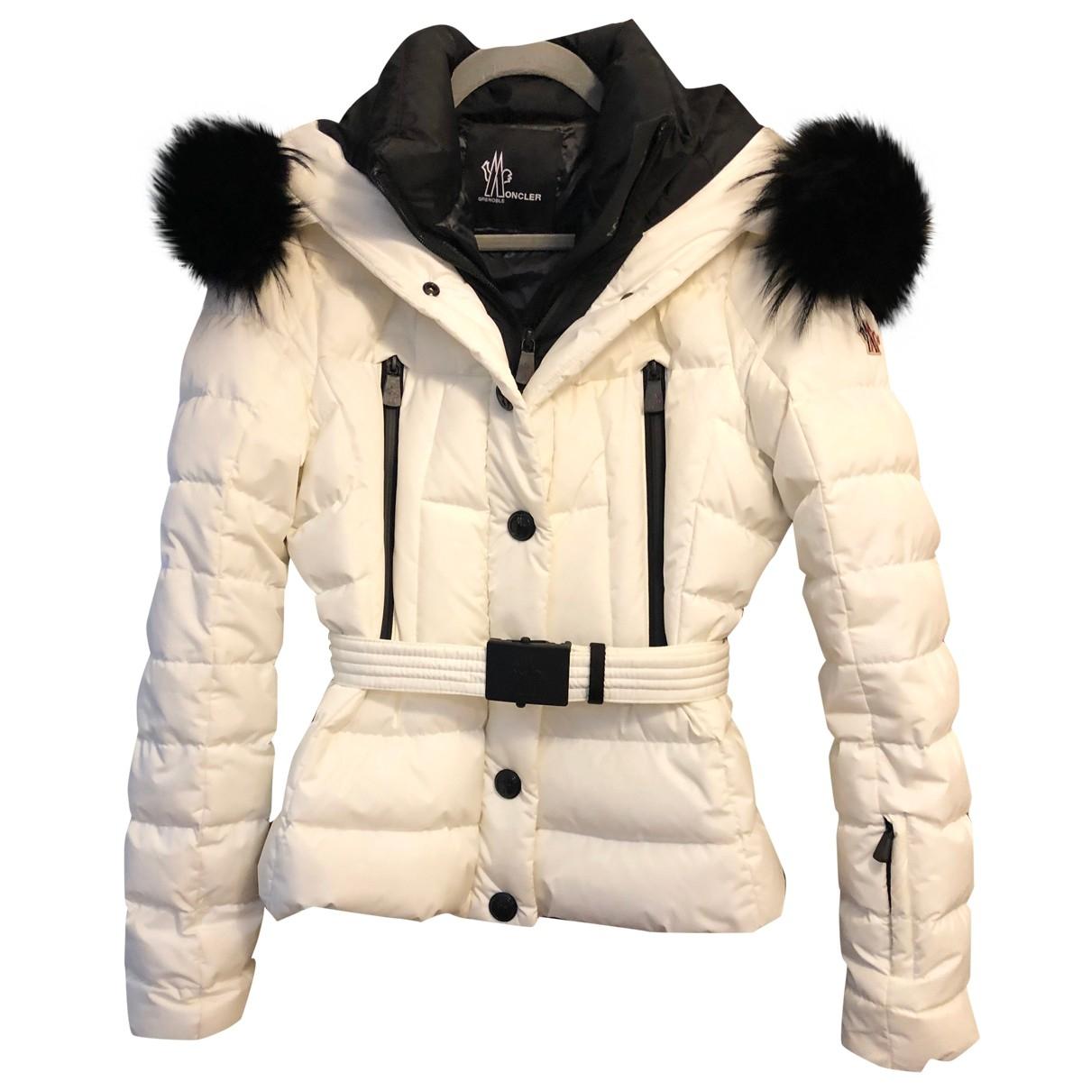 Moncler Grenoble White coat for Women 4 0-5