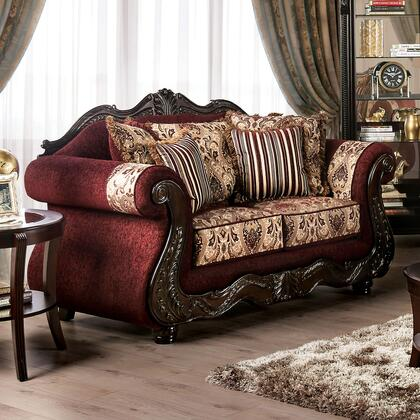 SM6433-LV Matteo Traditional Love Seat  in Burgundy
