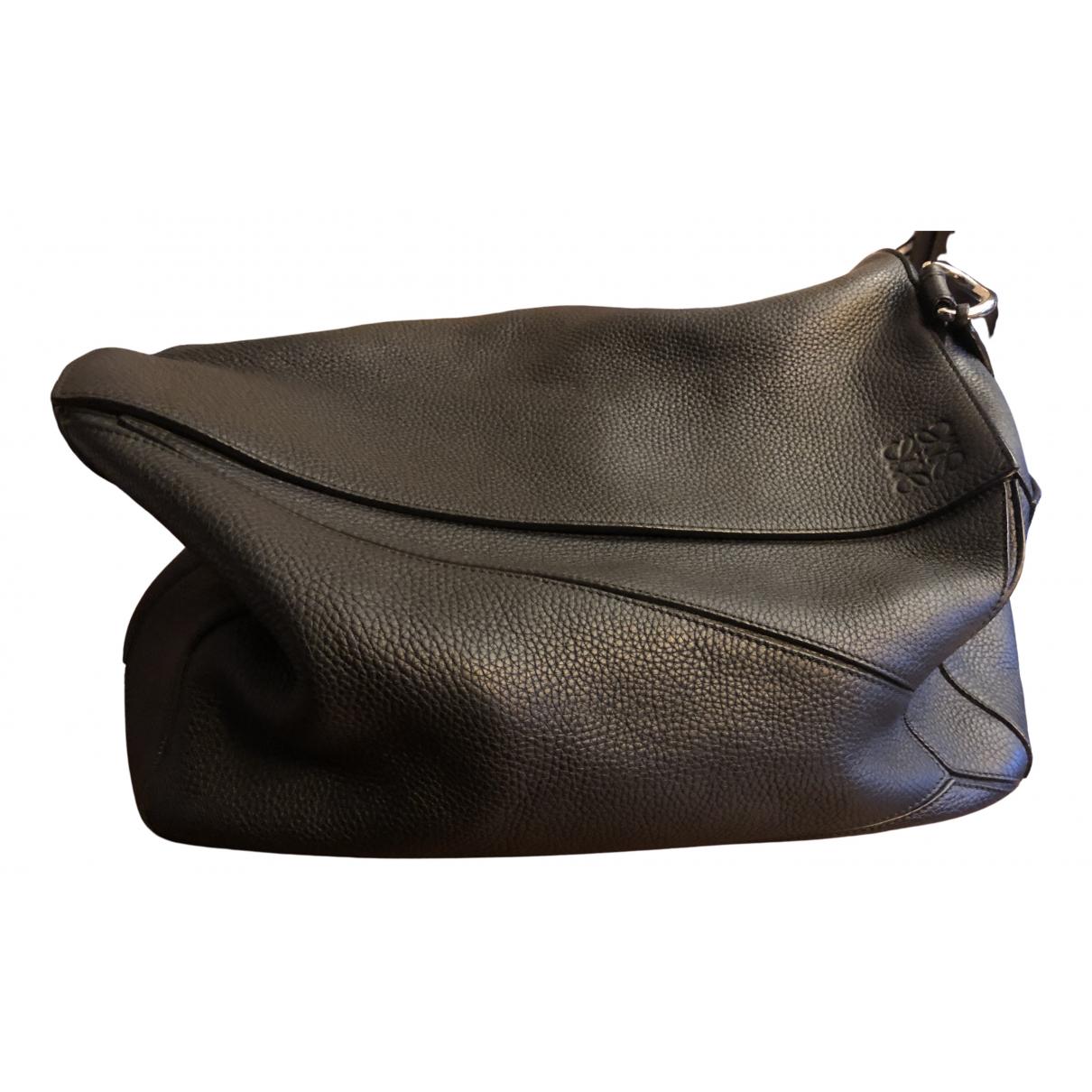 Loewe Puzzle  Black Leather bag for Men N