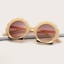 Girls Round Acrylic Frame Sunglasses