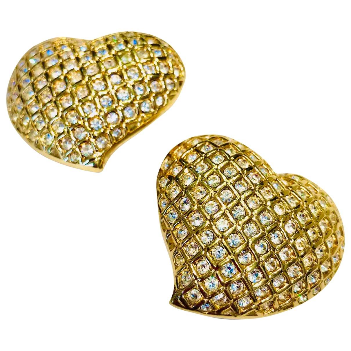 Swarovski - Boucles doreilles   pour femme en plaque or - blanc