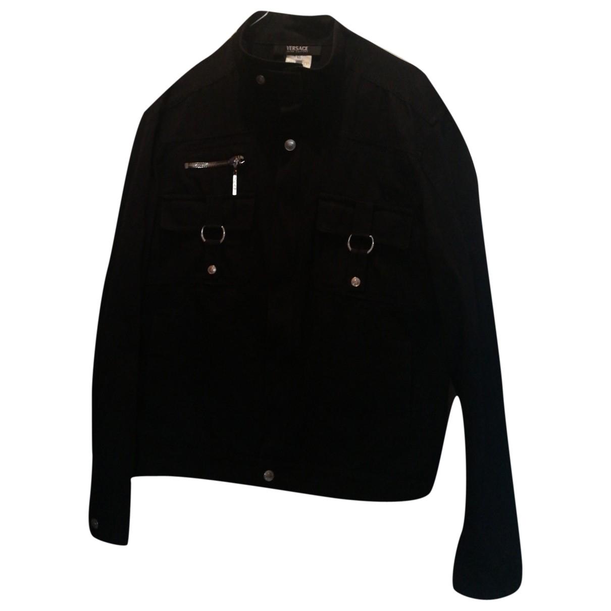 Versace Jeans \N Black Cotton jacket  for Men XL International