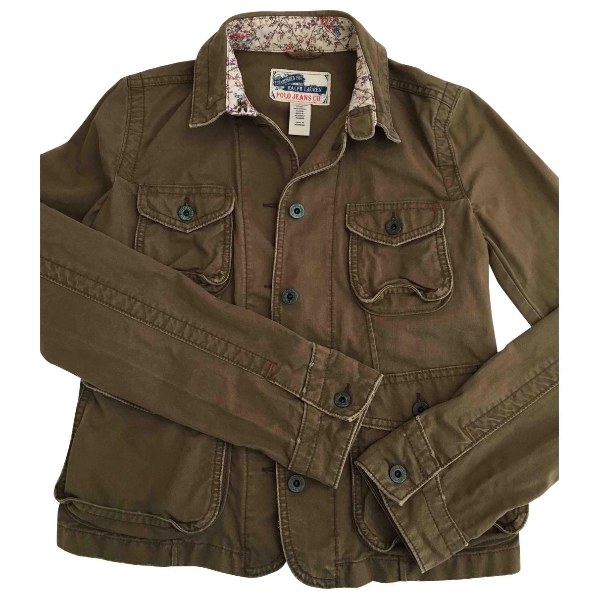Ralph Lauren \N Jacke in  Khaki Denim - Jeans