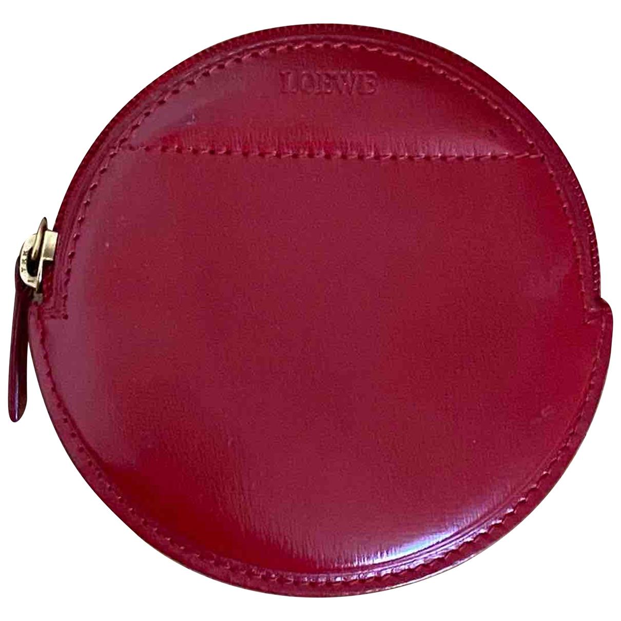 Loewe - Petite maroquinerie   pour femme en cuir - rouge