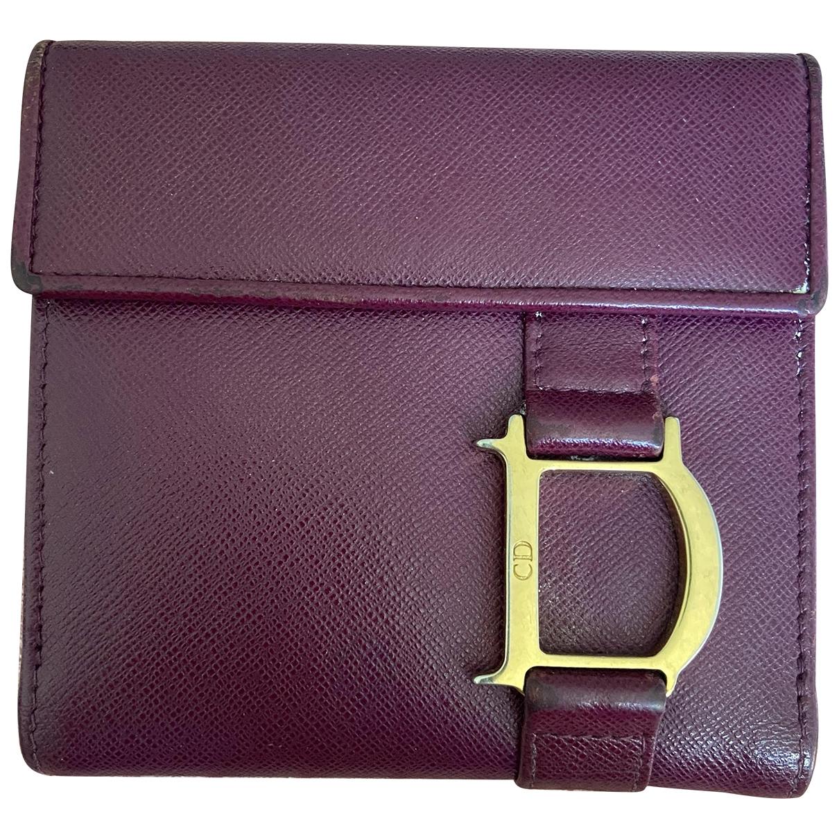 Dior - Portefeuille   pour femme en cuir - violet