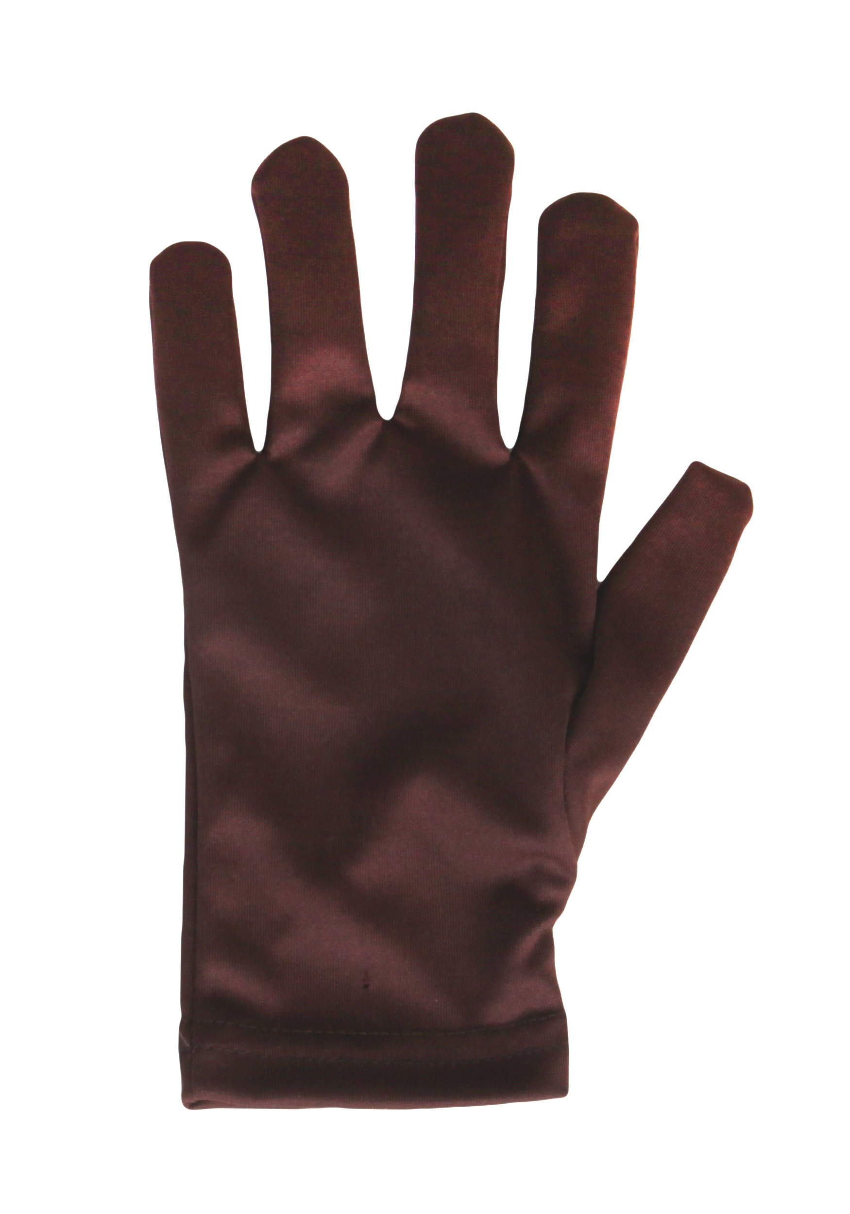 Stretchy Adult Brown Gloves