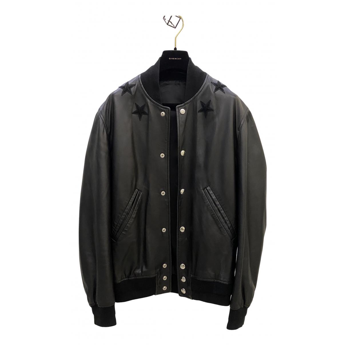 Givenchy - Vestes.Blousons   pour homme en cuir - noir
