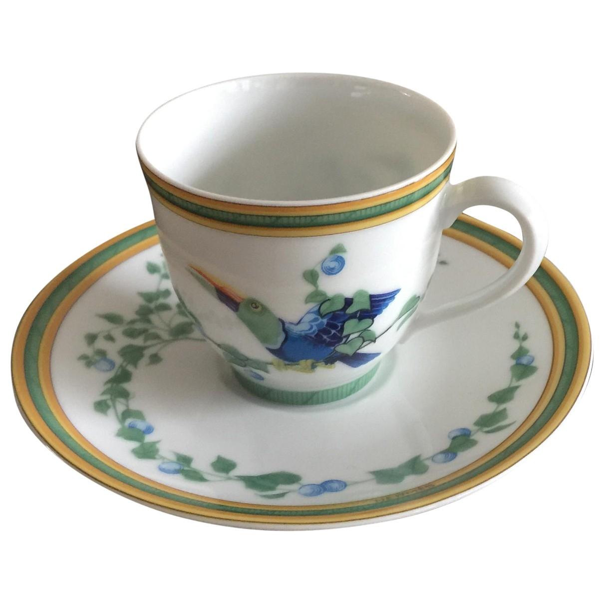 Juego de te/cafe Toucans de Porcelana Hermes