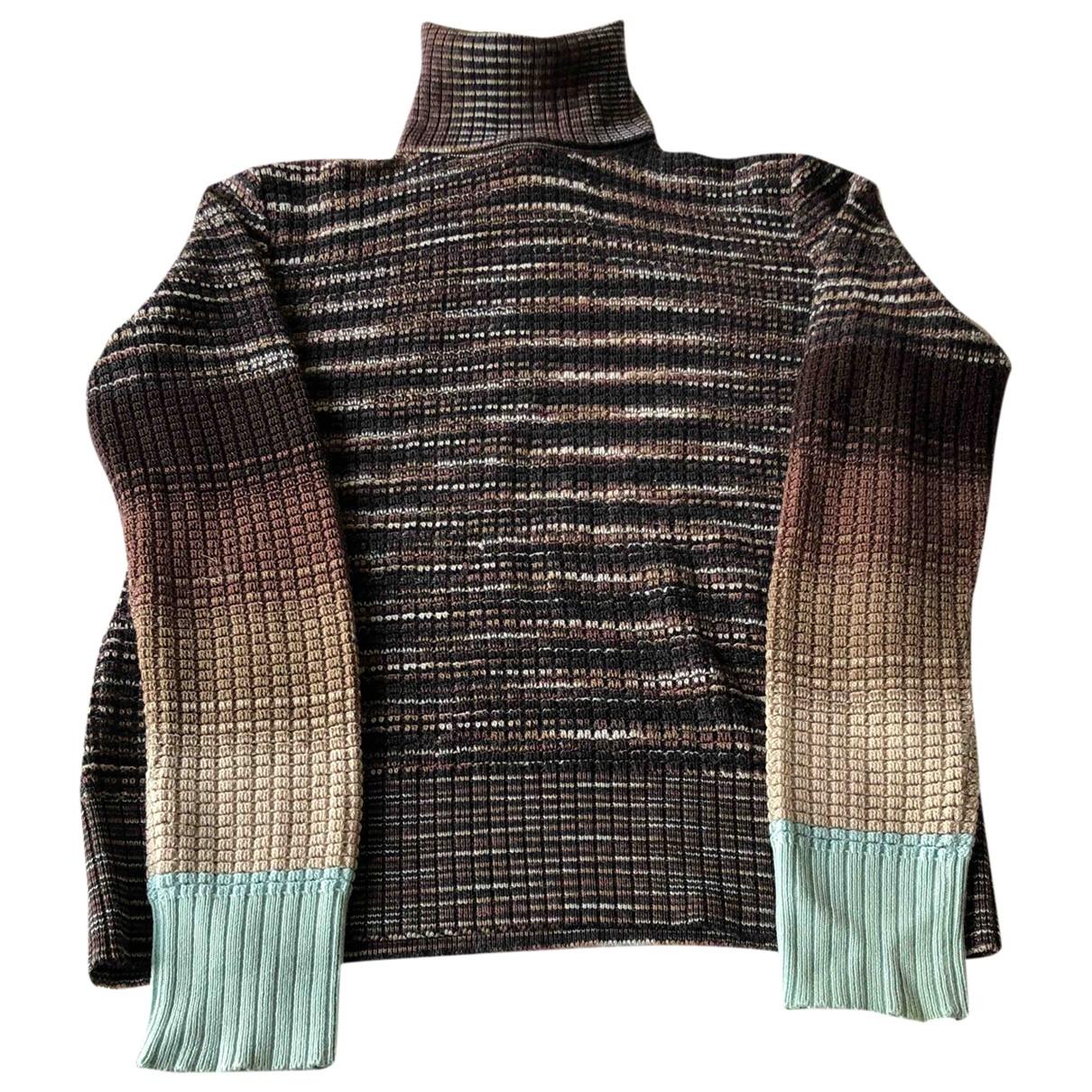 Missoni - Pull   pour femme en laine - marron