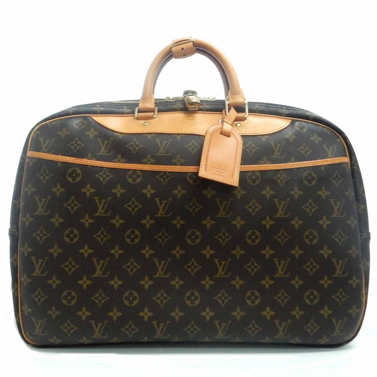 Louis Vuitton Alize Reisetasche in  Braun Leinen