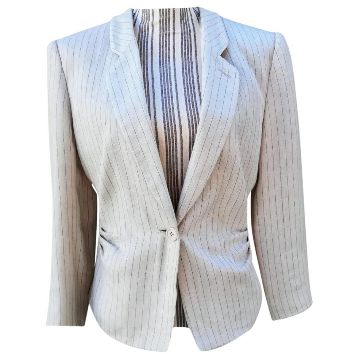 Non Signé / Unsigned \N Beige Linen jacket for Women 40 IT