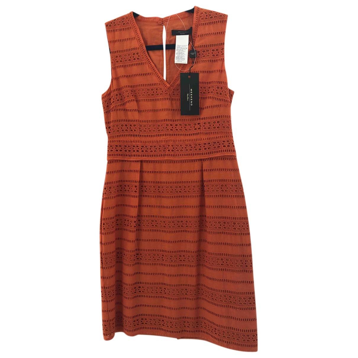 Max Mara Weekend \N Kleid in  Orange Baumwolle