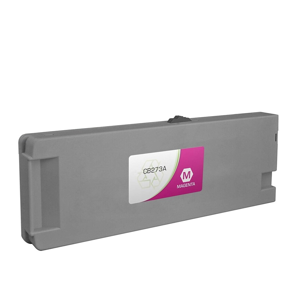 1PK Compatible CB273A No.790 Magenta Low-Solvent Ink Cartridge for HP DesignJet 9000s 10000s (Pack of 1) (Magenta)