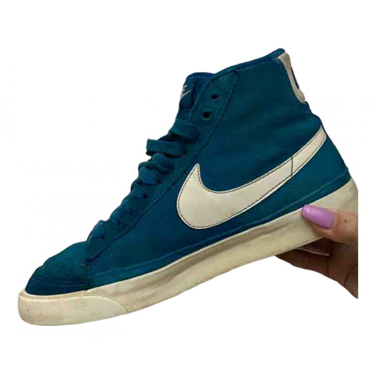 Nike Blazer Turquoise Cloth Trainers for Women 38 EU