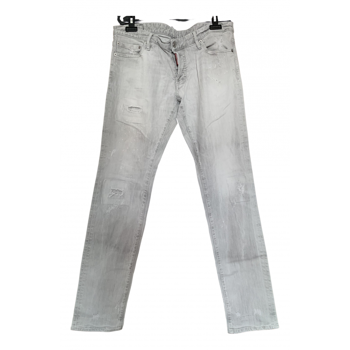 Dsquared2 \N Grey Cotton Trousers for Men 52 IT