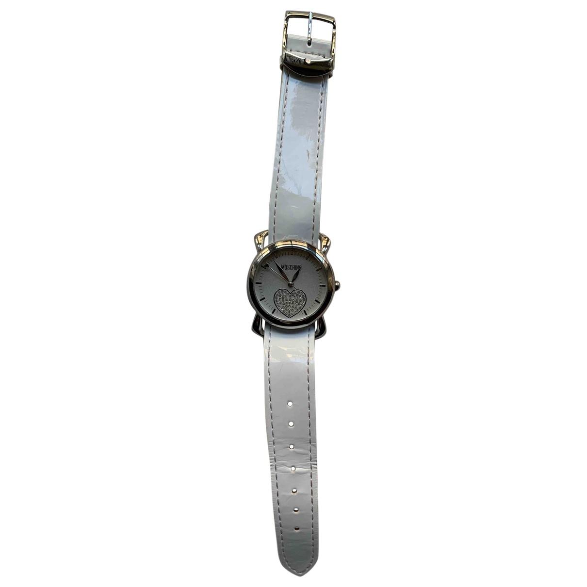 Moschino \N Uhr in  Weiss Stahl