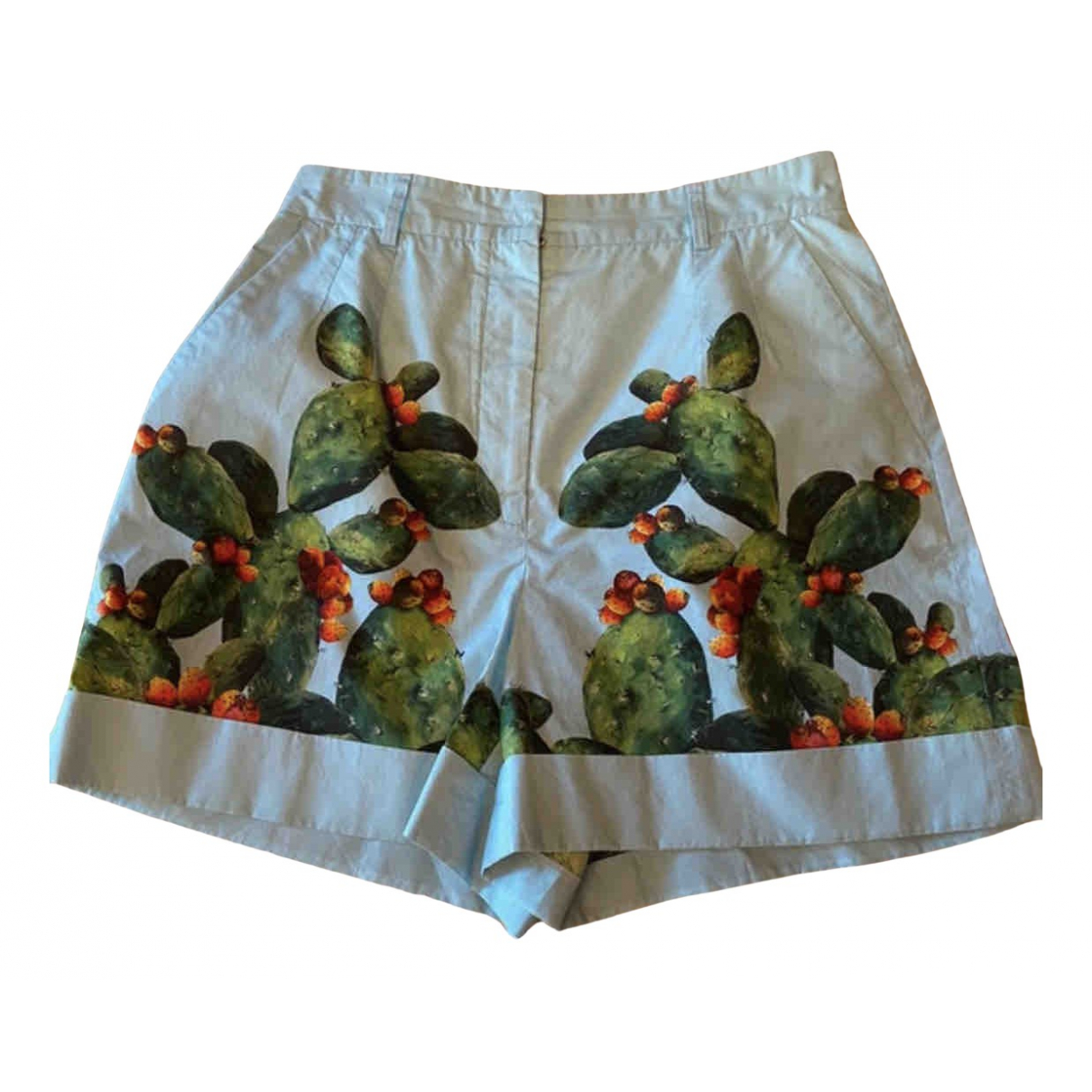 Dolce & Gabbana N Blue Cotton Shorts for Women 40 IT