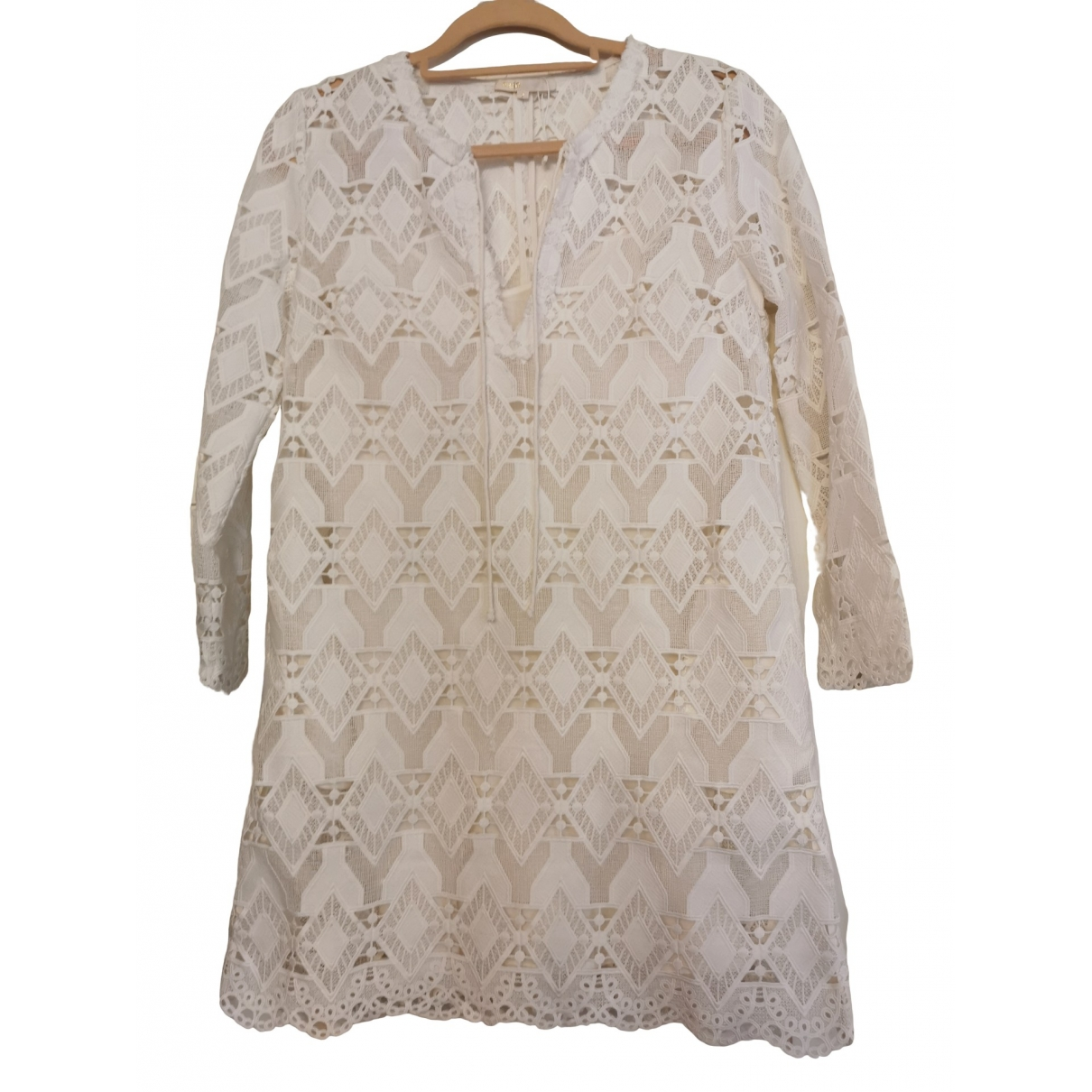 Maje \N White Lace dress for Women 10 UK