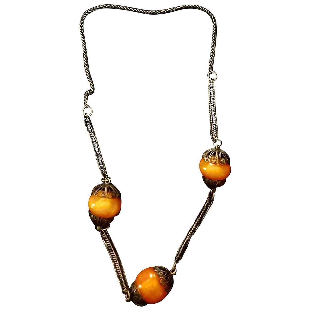- Collier   pour femme en metal - orange
