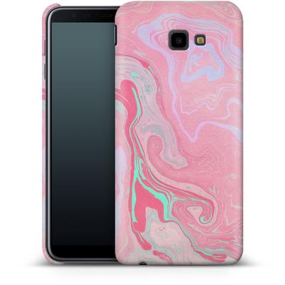 Samsung Galaxy J4 Plus Smartphone Huelle - Marbled Effect Pink von Emanuela Carratoni