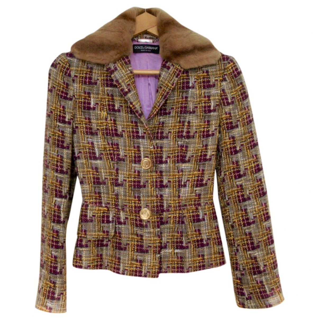 Dolce & Gabbana \N Beige Tweed jacket for Women 38 IT