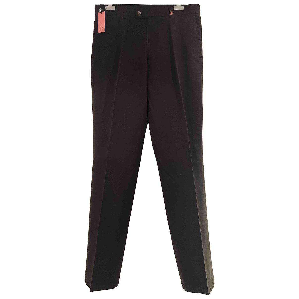 Carolina Herrera - Pantalon   pour homme en coton - marron