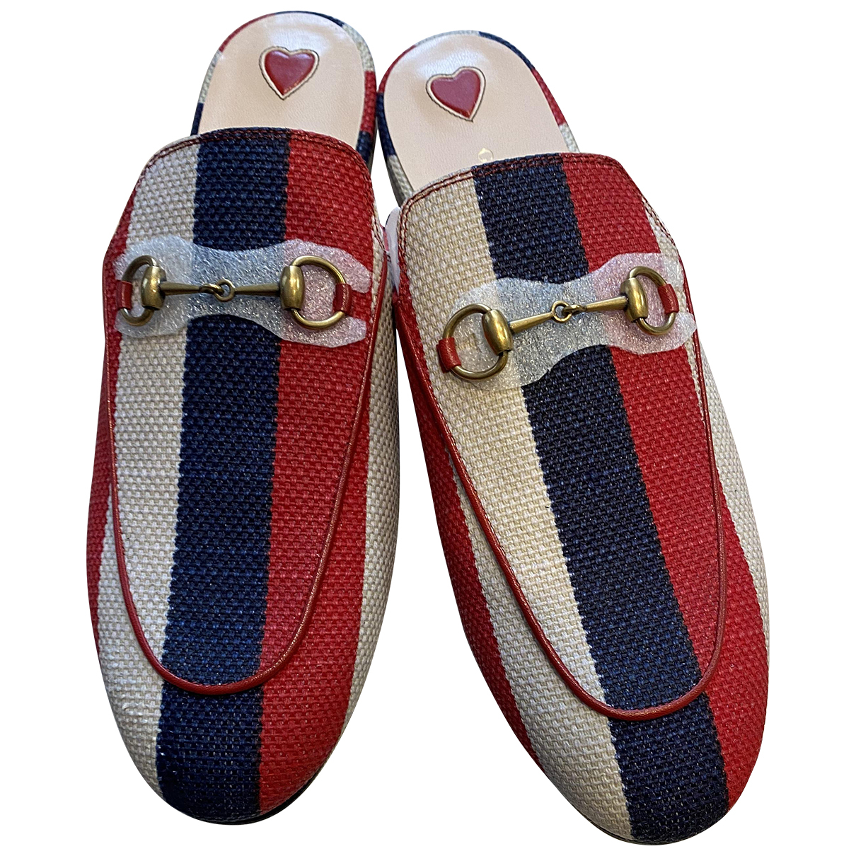 Gucci \N Clogs in  Rot Leinen