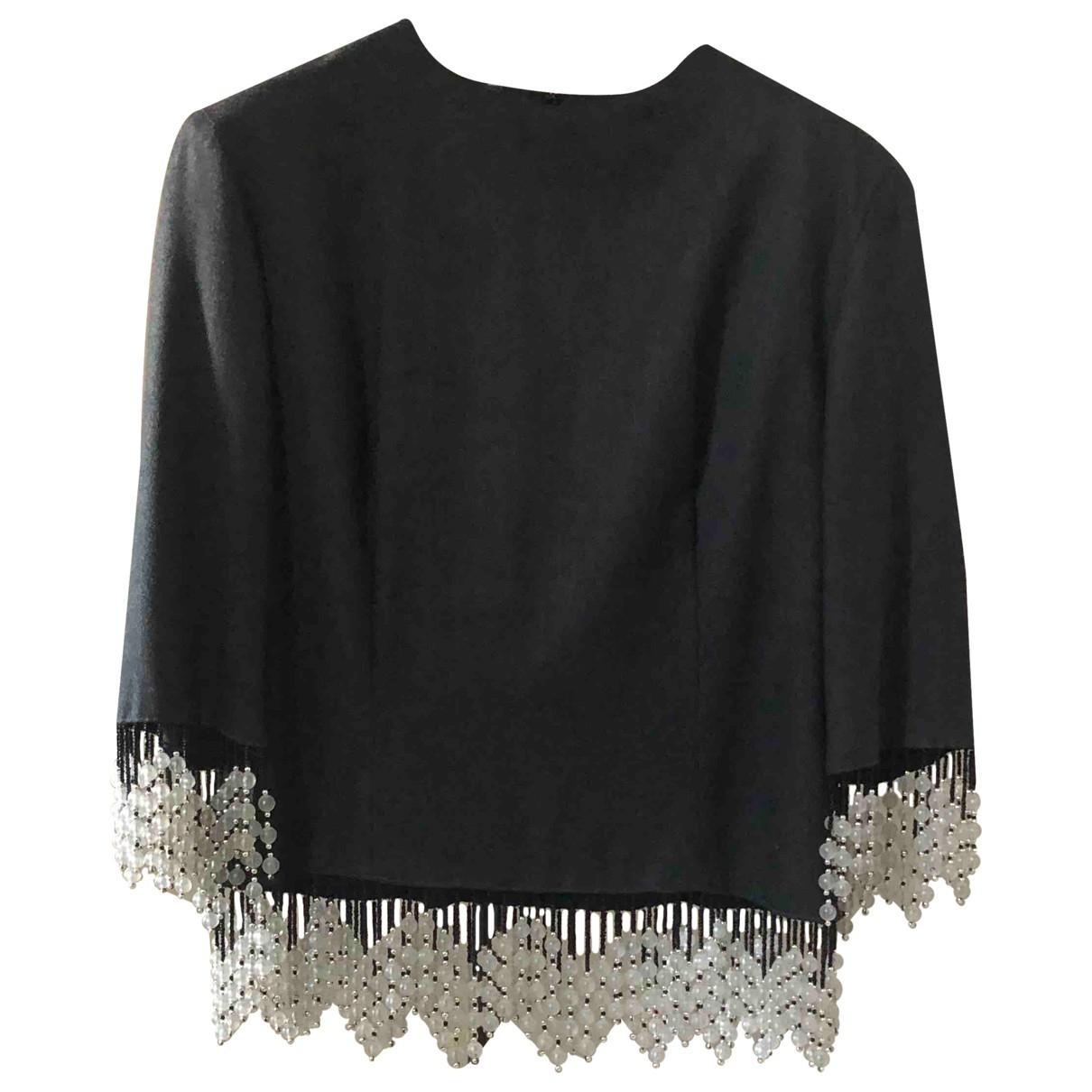 - Top   pour femme en laine - anthracite