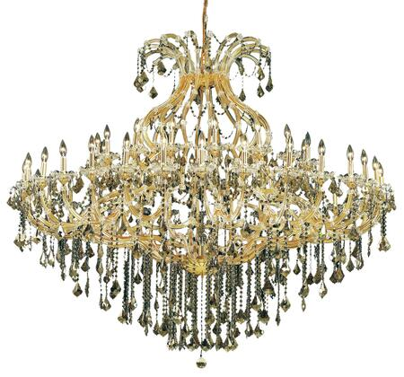 2800G72G/EC 2800 Maria Theresa Collection Large Hanging Fixture D72in H60in Lt: 48+1 Gold Finish (Elegant Cut