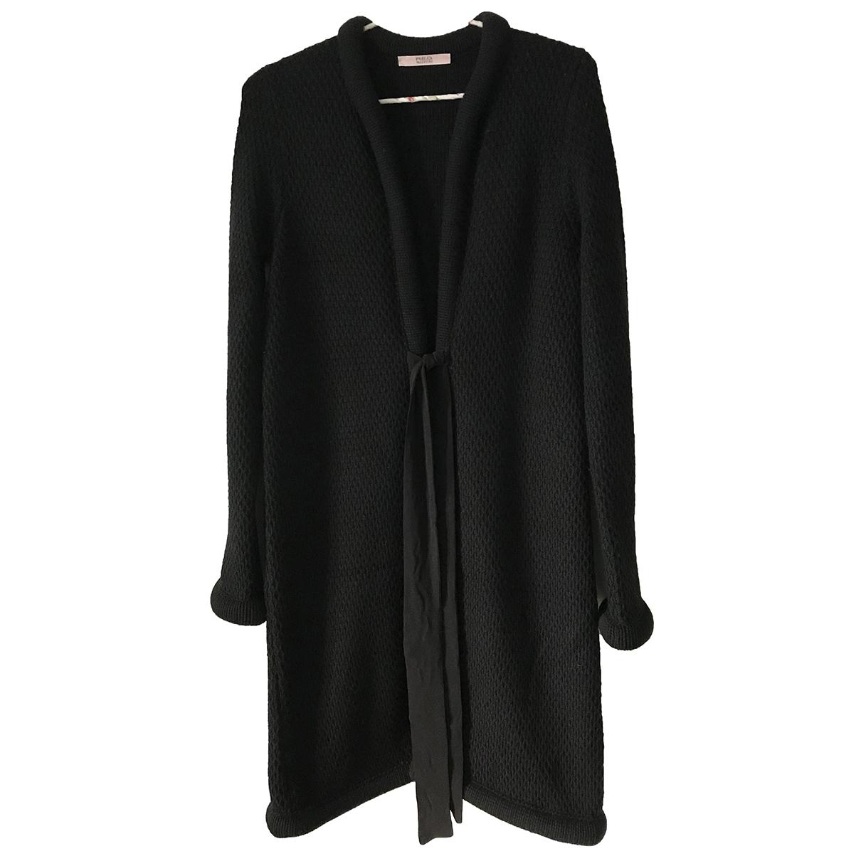 Red Valentino Garavani \N Black Wool coat for Women 40 IT