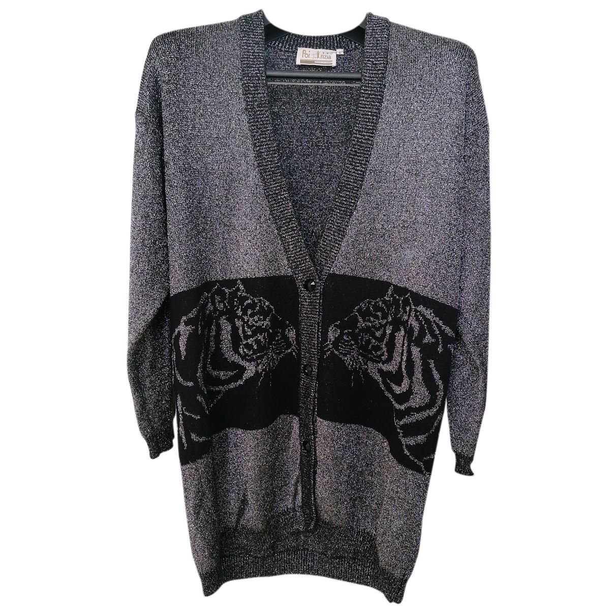 Krizia - Pull   pour femme en laine - argente