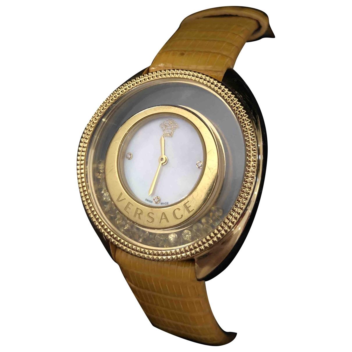 Versace - Montre   pour femme en or jaune - dore